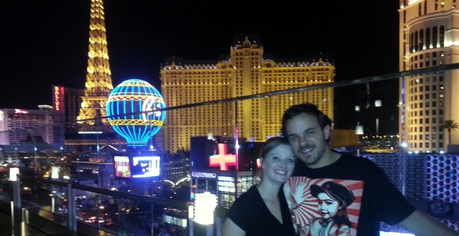 view from the cosmopolitan in Vegas with Haley